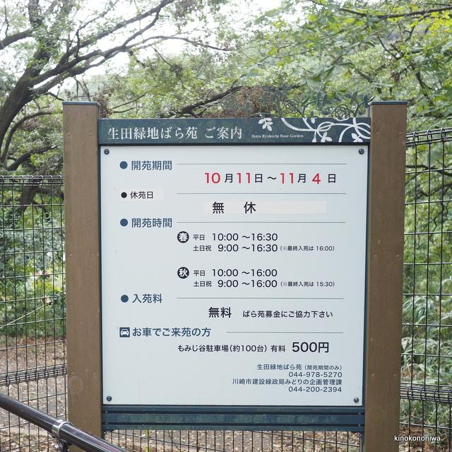 生田緑地ばら苑開苑スケジュール
