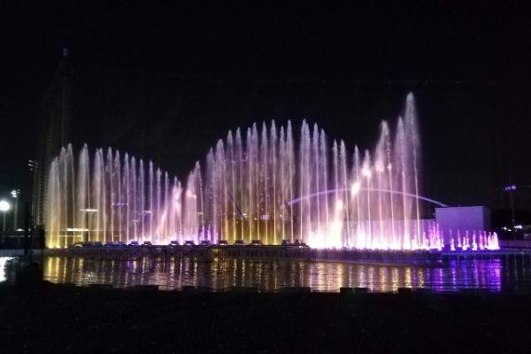 よみうりランドの噴水ショー