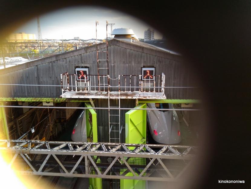 大井車両基地で新幹線とドクターイエローを見る