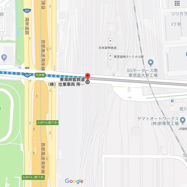 大井車両基地の地図