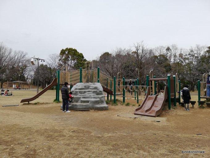 菅生緑地のアスレチック遊具