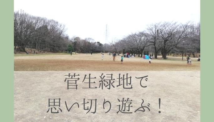 大きな広場とアスレチック、草すべりが魅力!菅生緑地で思い切り遊ぶ
