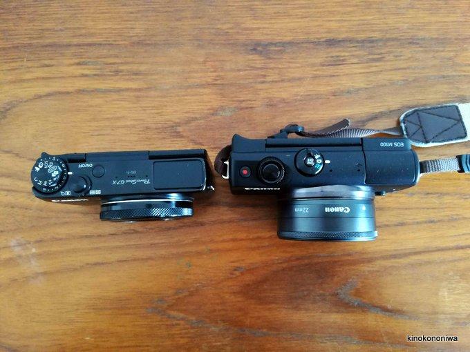 キャノンEOS M100とPower Shot G7Xの比較