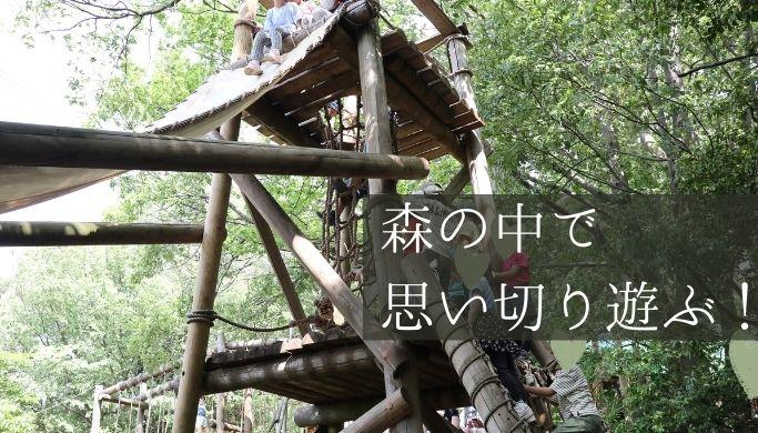 森で遊べる!「つくし野アスレチック」に行ってみた混雑状況や園内のようすをレポート